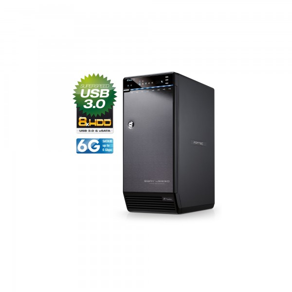 """FANTEC QB-X8US3-6G Storagegehäuse 8x3,5"""" SATA HDD/SSD, USB3.0, eSATA"""