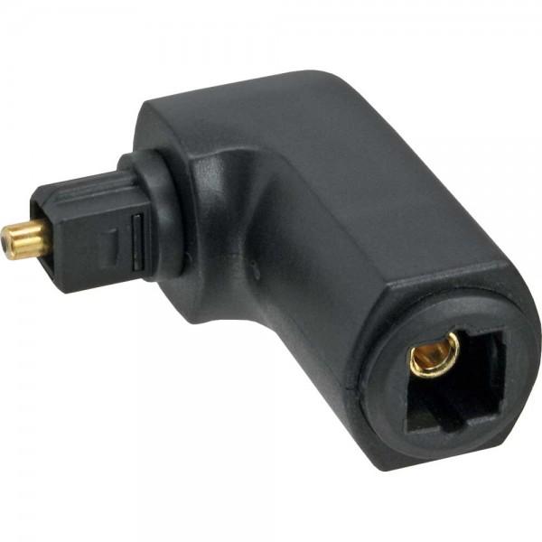 InLine® OPTO Audio Adapter, Toslink Buchse / Stecker, 90° gewinkelt