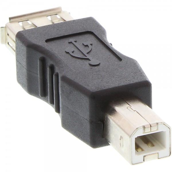 InLine® USB 2.0 Adapter, Buchse A auf Stecker B