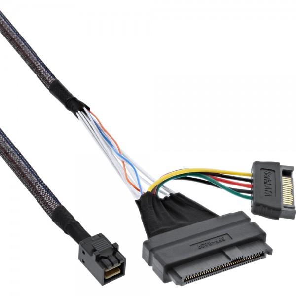 InLine® U.2 Anschlusskabel, SSD mit U.2 (SFF-8639) an SFF-8643 + Strom, 1m