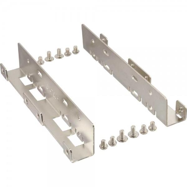 """InLine® HDD/SSD Einbauschienen, 2x 6,35cm (2,5"""") zu 8,89cm (3,5""""), nur Rahmen und Schrauben"""