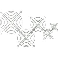 InLine® Lüftergitter Metall, verchromt, 60x60mm