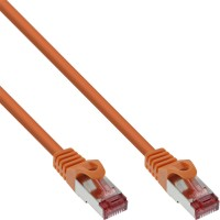 InLine® Patchkabel, S/FTP (PiMf), Cat.6, 250MHz, PVC, Kupfer, orange, 15m