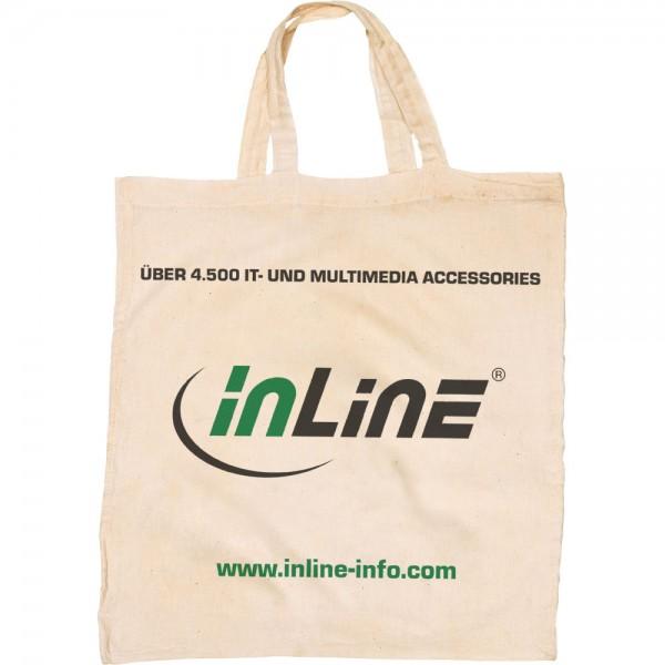 InLine® Canvas Tragetasche, woodline, natur, 42x12x38cm, mit Henkel