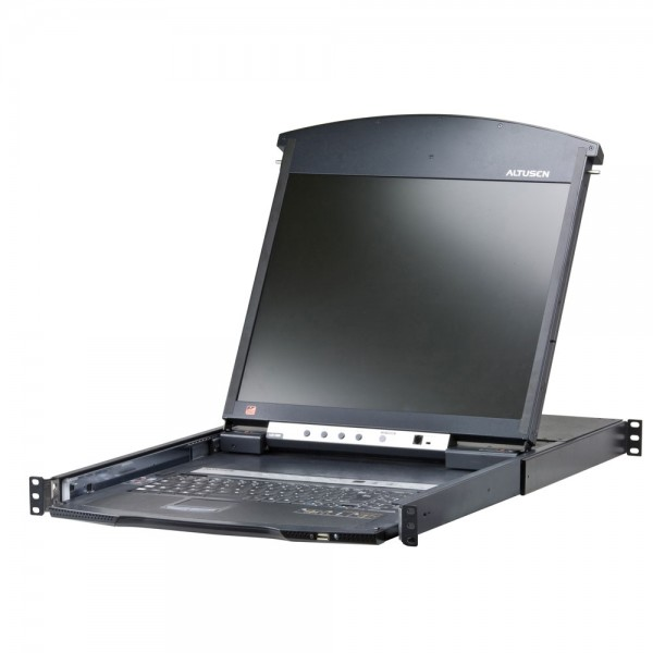 "ATEN KL1508AiM KVM over IP Switch 8-fach mit 17""-Display, 19-Zoll-Rackmontage, 1HE, DE-Layout"