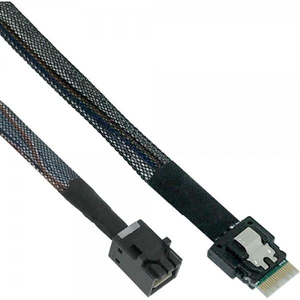 InLine® Slim SAS Kabel, SFF-8654 zu Mini SAS HD SFF-8643, 24Gb/s, 0,5m