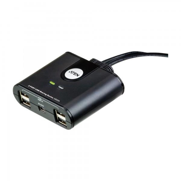 ATEN US224 USB 2.0 Data Switch, 4 USB-Geräte an 2 PC, elektronisch