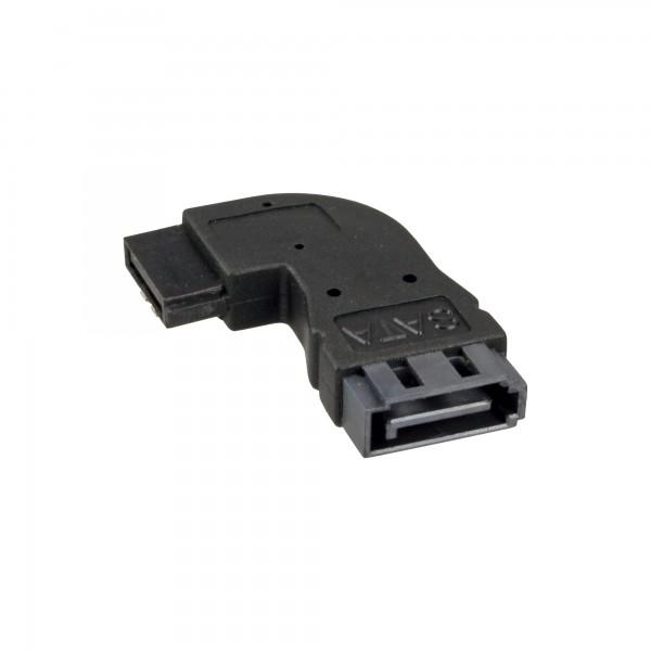 InLine® SATA Adapter Stecker / Buchse, gewinkelt rechts