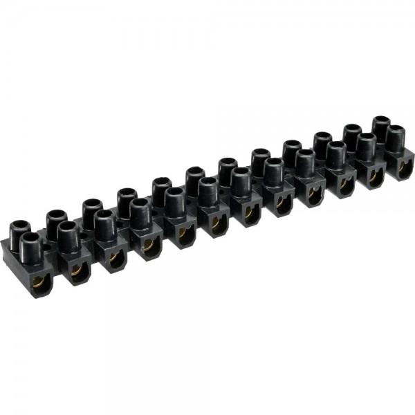 InLine® Lüsterklemme 6mm², 12er Reihe, schwarz, 10 Stück