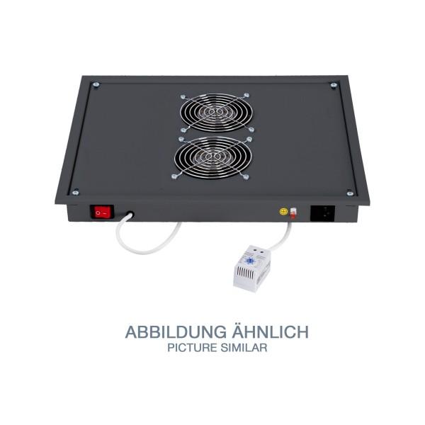 """19"""" Belüftungseinheit für Dach/Boden, Triton RAB-CH-X03-X3, schwarz"""