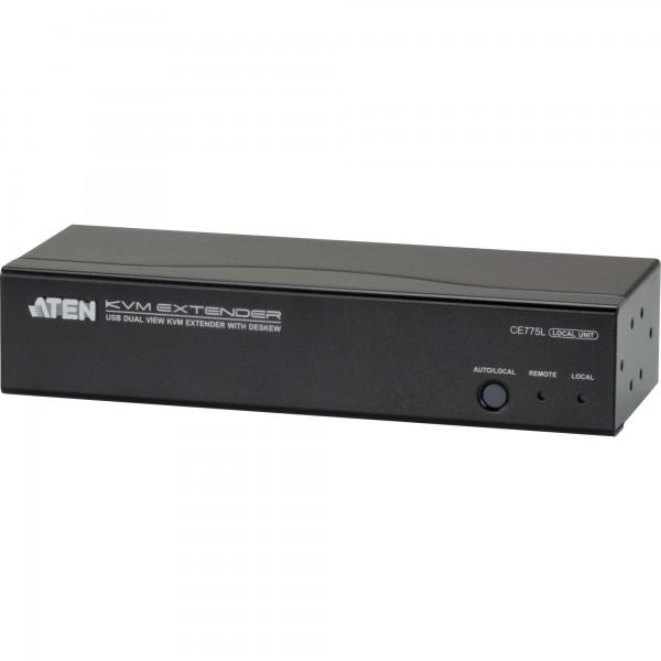 ATEN CE775 Konsolen-Extender, Dual View, USB, RS232, mit Audio, bis 300m