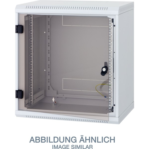 "Triton RBA-09-AS5-CAX-A6 19"" Wandschrank 9HE, 600x495mm, einteilig, grau"