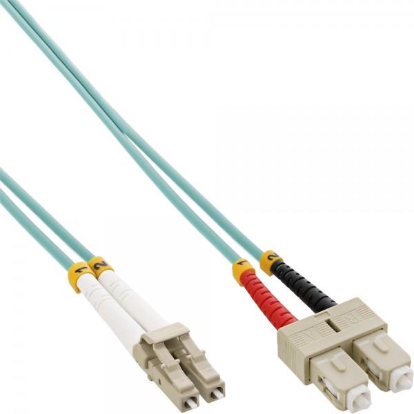 InLine® LWL Duplex Kabel, LC/SC, 50/125µm, OM3, 5m