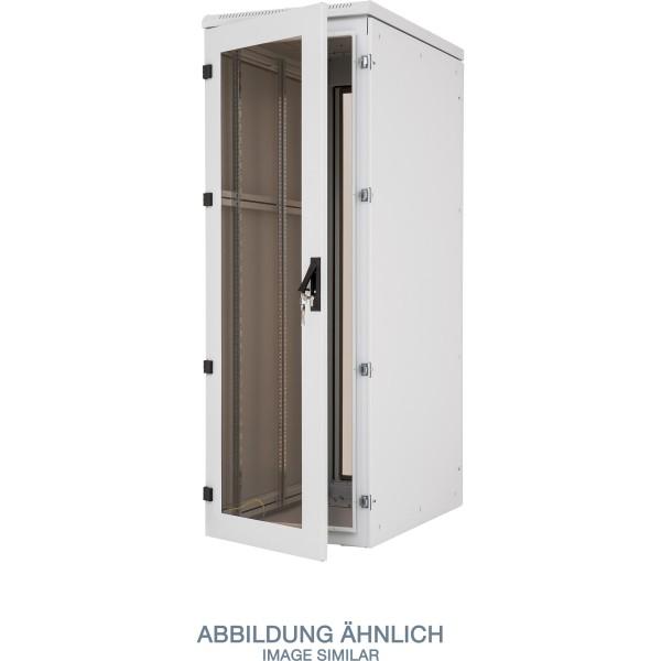 "Triton RTA-37-A88-CAX-A1 19"" Netzwerkschrank 37HE, 800x800mm, Glastür, grau"