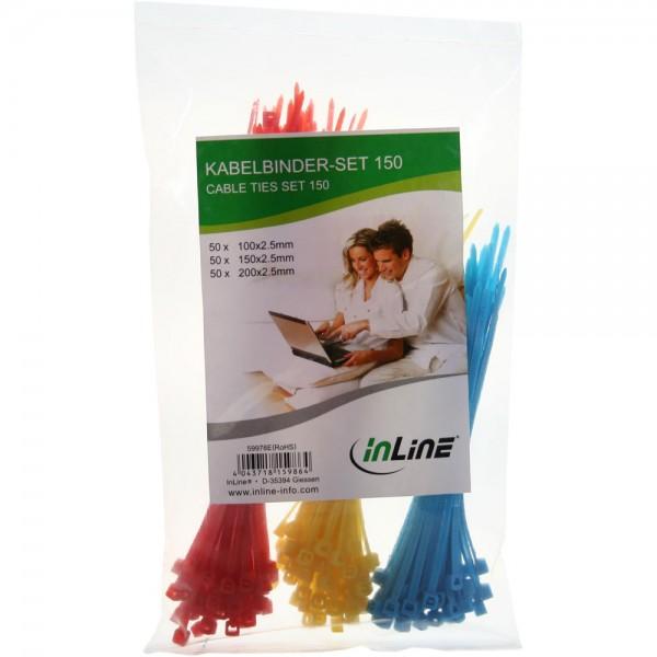 InLine® Kabelbinder-Set, 150 Stück