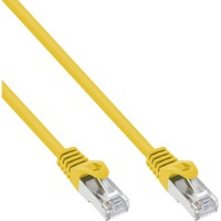InLine® Patchkabel, SF/UTP, Cat.5e, gelb, 1m