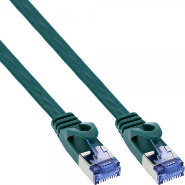 InLine® Patchkabel flach, U/FTP, Cat.6A, grün, 1,5m