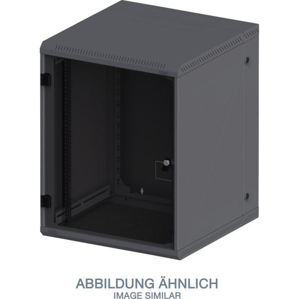 "Triton RBA-15-AD5-BAX-A1 19"" Wandschrank 15HE, 600x515mm, zweiteilig, schwarz"