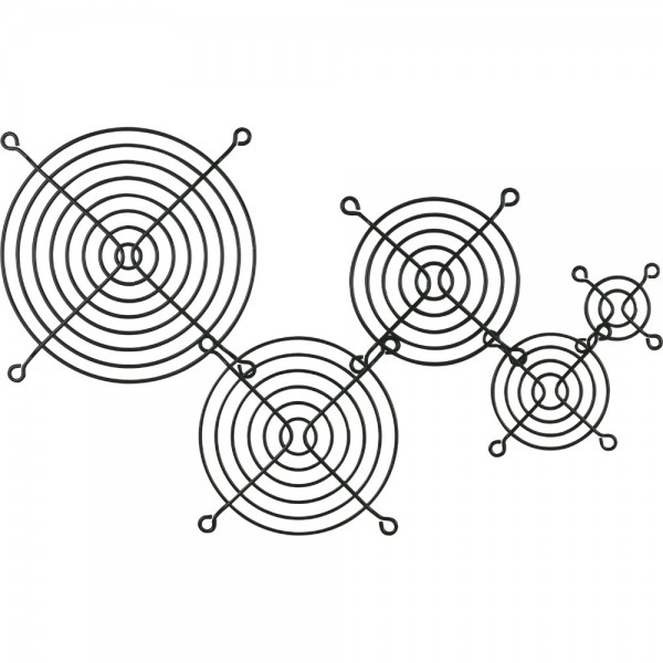 InLine® Lüftergitter Metall, schwarz, 92x92mm