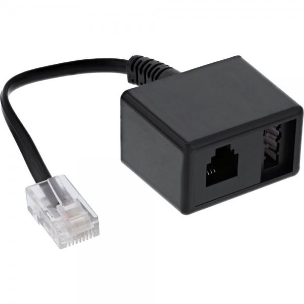 InLine® TAE Adapterkabel RJ45 Stecker auf TAE-N & RJ11 Buchse