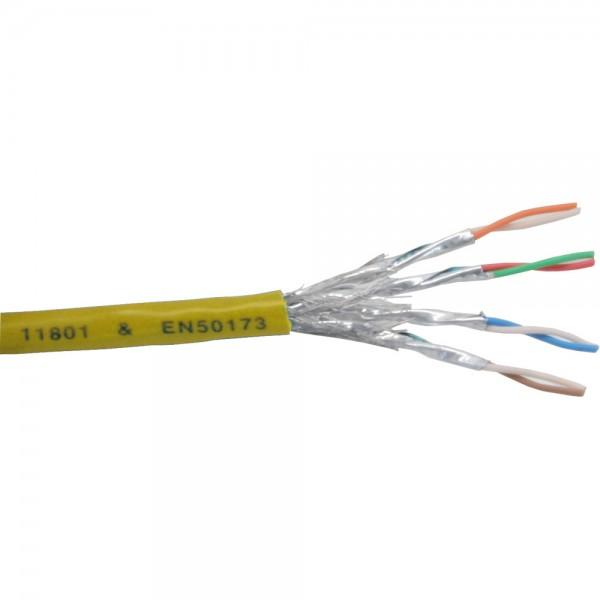 InLine® Patchkabel Cat.6 S/FTP (PiMf), gelb, AWG27, PVC, CU, 100m