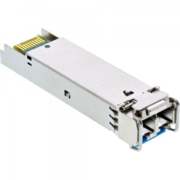 InLine SFP Modul LWL LX 1310nm Singlemode mit LC Buchsen, 10km, 1,25Gbit/s