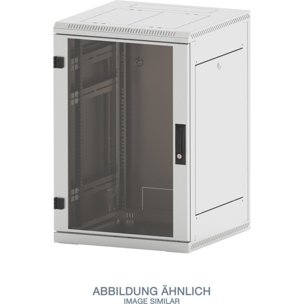 "Triton RMA-15-A69-CAX-A1 19"" Netzwerkschrank 15HE, 600x900mm, Glastür, grau"