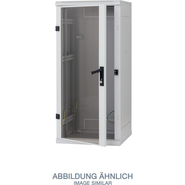 "Triton RMA-37-A88-CAX-A1 19"" Netzwerkschrank 37HE, 800x800mm, Glastür, grau"