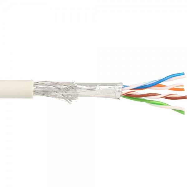 InLine® Patchkabel Cat.5e, grau, SF/UTP, AWG26, PVC, CCA, 100m