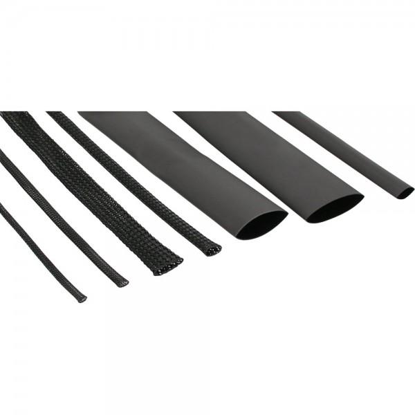 InLine® Schrumpfschlauch Set / Kabelschlauch Set, schwarz