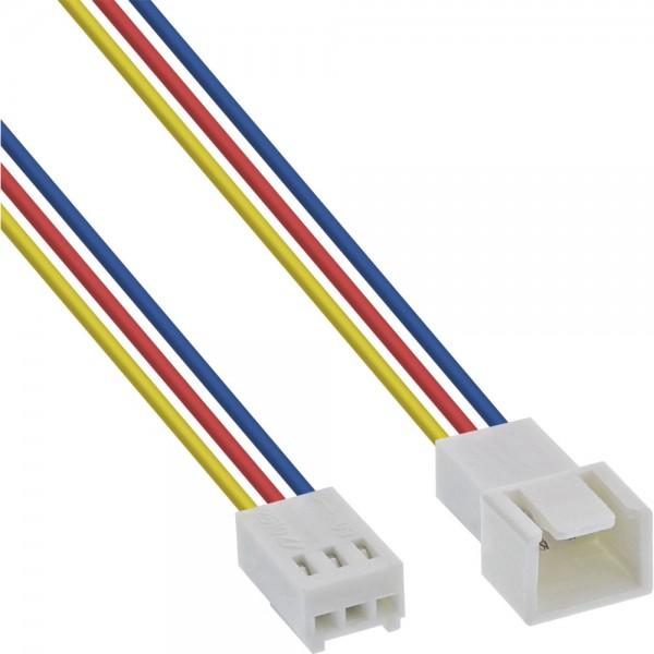 InLine® Lüfterkabel Verlängerung, 3pol Molex Stecker / Buchse, Länge 0,6m