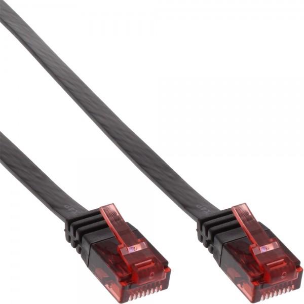 InLine® Patchkabel flach, U/UTP, Cat.6, schwarz, 5m
