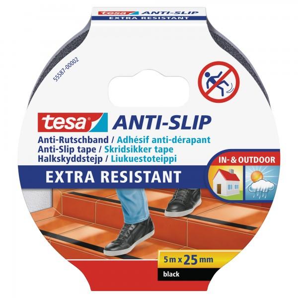 tesa Anti-Rutschband, schwarz, 5m x 25mm