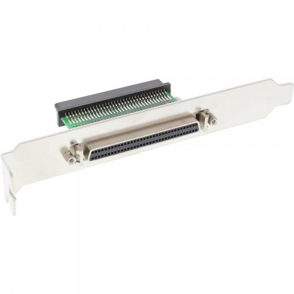 InLine® SCSI III U320 Slotblech, 68pol mini Sub D Buchse / Buchse, innen/außen