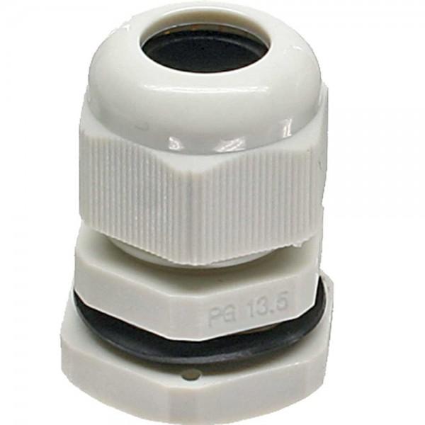 InLine® Kabeldurchführung PG 7 Nylon IP68 3,5-6mm, grau, 10 Stück