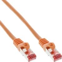 InLine® Patchkabel, S/FTP (PiMf), Cat.6, 250MHz, PVC, Kupfer, orange, 1,5m