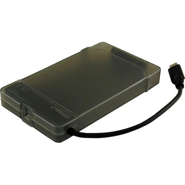 """LC-Power LC-25U3-C3, externes 2,5""""-SATA-Gehäuse, USB 3.1-Gen. 2-Typ C-Anschluss, schwarz"""