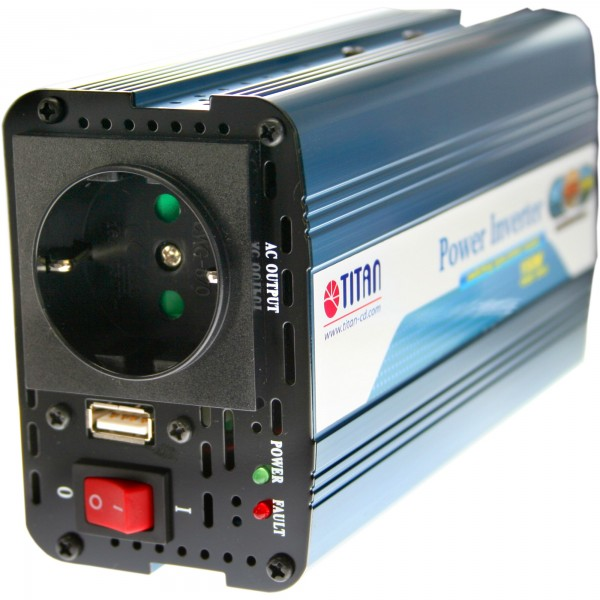 Titan HW-150V6 Universal KFZ-Netzteil 12V auf 230V mit USB 150W