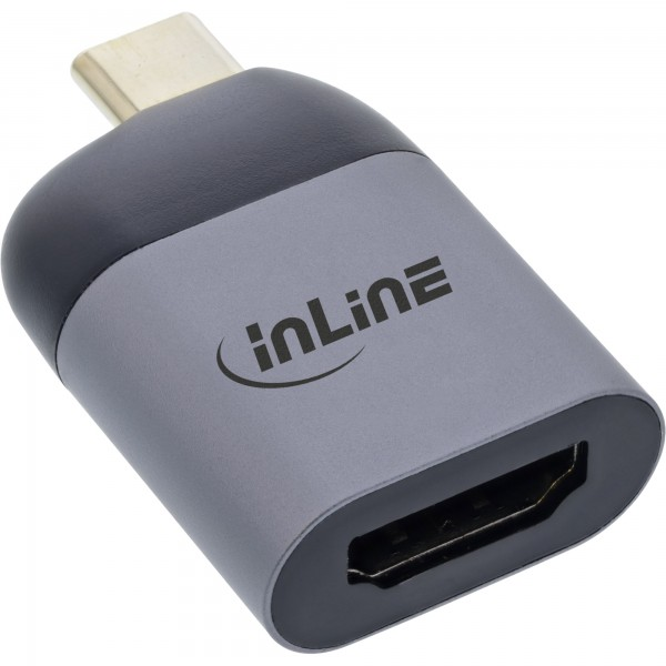 InLine® USB Display Konverter, USB Typ-C Stecker zu HDMI Buchse (DP Alt Mode), 4K2K