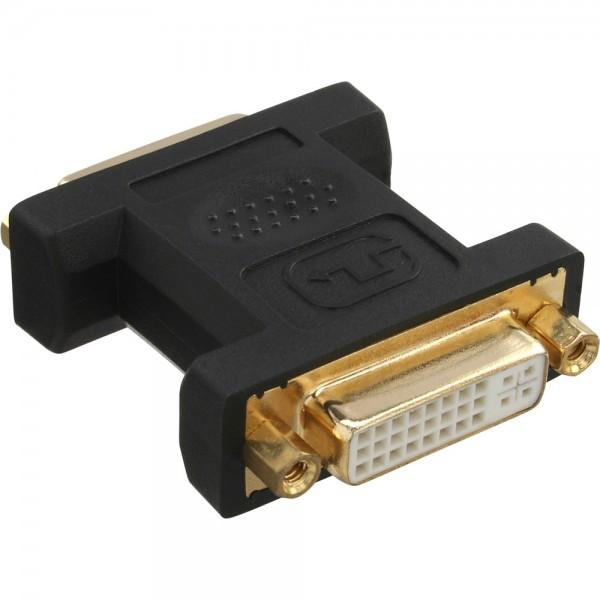 InLine® DVI-I Adapter, Digital + Analog 24+5 Buchse / Buchse, vergoldet