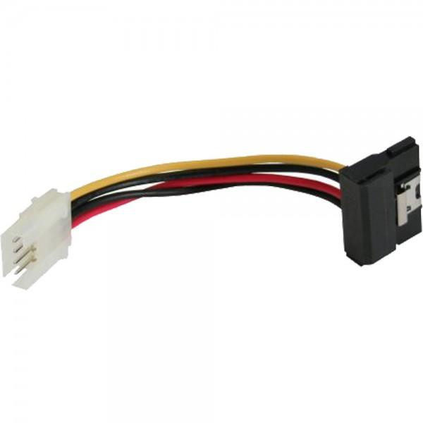 """InLine® SATA Stromadapterkabel, 1x 8,89cm (3,5"""") Buchse an 15pol SATA Stecker gewinkelt mit Lasche, 6cm"""