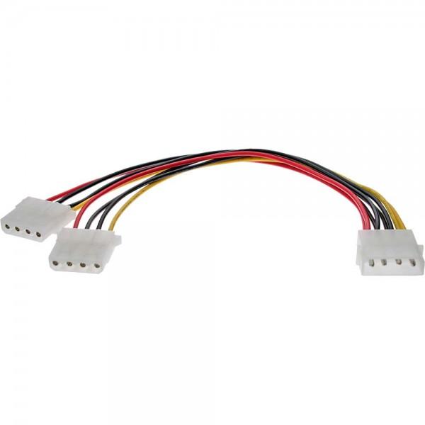 "InLine® Strom Y-Kabel intern, 1x 13,34cm (5,25"") an 2x 13,34cm (5,25"")"