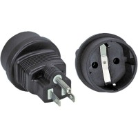 InLine® Reiseadapter, USA Stecker auf Schutzkontakt Buchse