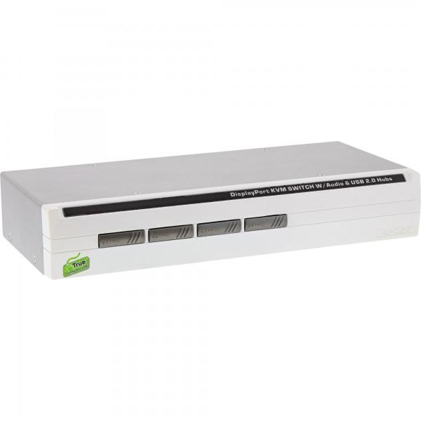 InLine® KVM Desktop Switch, 4-fach, DisplayPort 1.2, 4K, USB 2.0, Audio