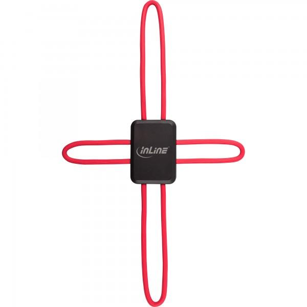 InLine® Universal Smartphone Halterung Smart Hold, rot