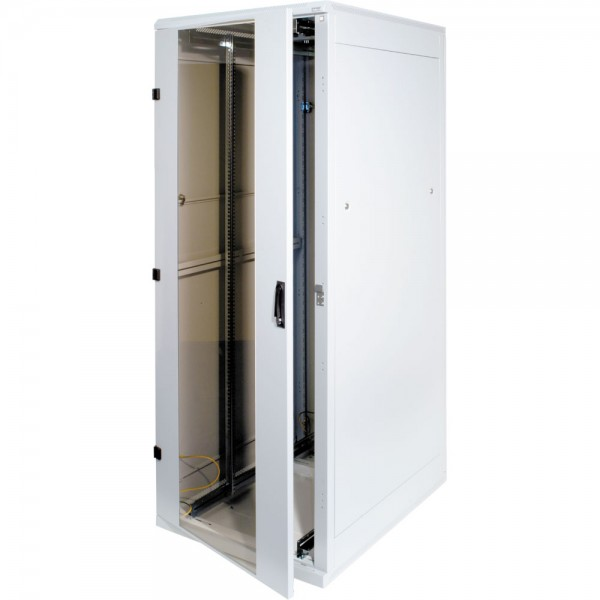 "19"" Netzwerkschrank 15HE, Triton RMA-15-A66-CAX-A1, 600x600, Glastür, lichtgrau"