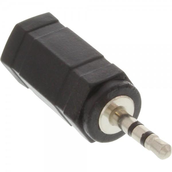 InLine® Audio Adapter, 2,5mm Klinke Stecker zu 3,5mm Buchse, Stereo