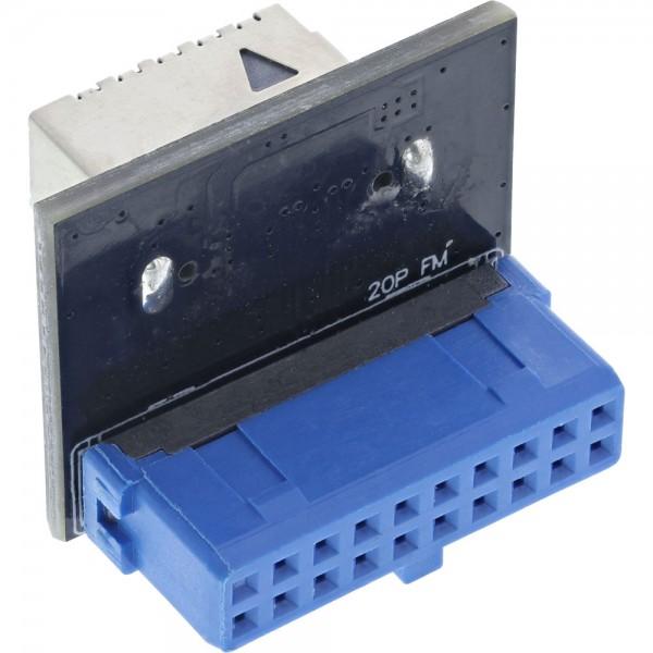 InLine® USB 3.0 zu USB 3.1 Frontpanel Key-A Adapter intern