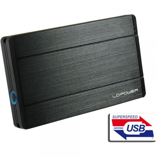 """LC-Power LC-25U3-Diadem, externes 2,5""""-SATA-Gehäuse, USB 3.0, schwarz"""