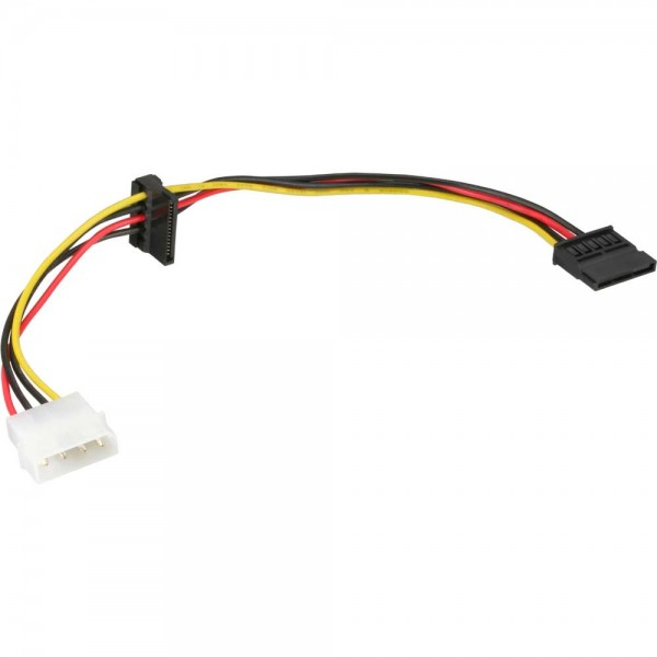 "InLine® Strom Kabel intern, 1x 13,34cm (5,25"") an 2x 15pol SATA, 0,3m"